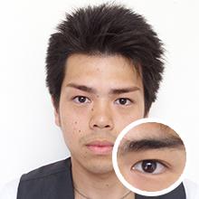 眉毛スタイリング+カラー